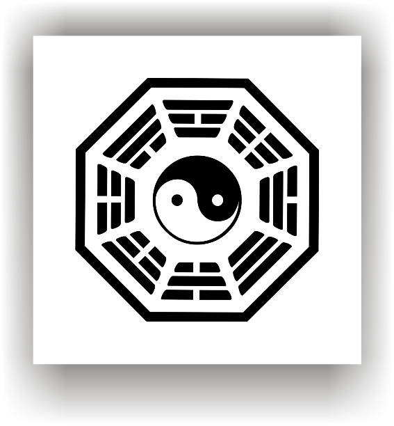 feng shui bagua schutzbild yin yang symbol zeichen ebay. Black Bedroom Furniture Sets. Home Design Ideas