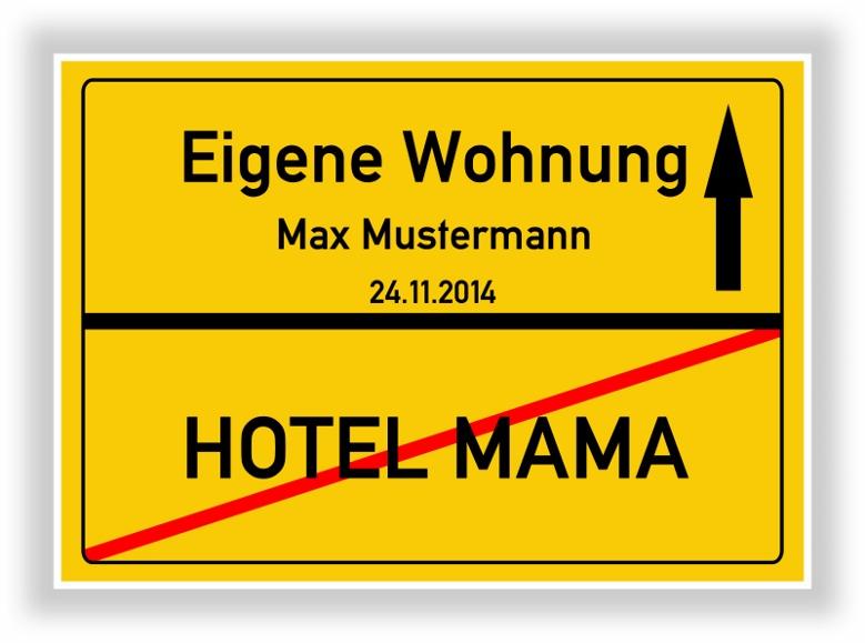 Ortsschild bild auszug erste eigene wohnung hotel mama abschied umzug ebay - Erste gemeinsame wohnung geschenk ...